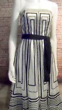 stunning Coast mesh black white geometric corset bustier dress 8