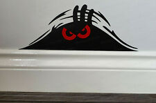 Evil Angry Monster Peeping Peek a Boo Funny Novelty Car Wall Sticker Decal ref:4