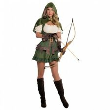 Womens Robin Hoodie Costume Fancy Dress Hero Fairy Tale Size 8-16 Amscan L - Large