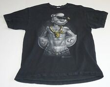 Popeye Gangster Rapper 2009 King Black T-Shirt Graphic Logo Size - Large