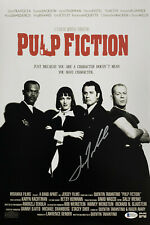 John Tavolta Signed 12x18 Pulp Fiction Movie Photo Poster Beckett BAS Witnessed