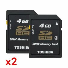 2x Toshiba 4GB SD HC SDHC Class 4 Memory Card Bulk