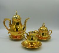 Vintage 3 pc Tea Service Set Lusterware Gold Plated Fine China Made in Japan