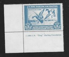 DDF-1 (RW1 50th Anniversary) Ding Darling Stamp-OGNH-RARE LL Inscription Single