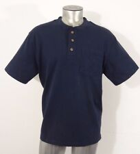 Duluth Trading men's longtail pocket henley t-shirt navy blue M