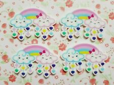 Cloud Resin FlatBack x6 Cabochon Decoden Kawaii Craft Scrapbook Embellishment