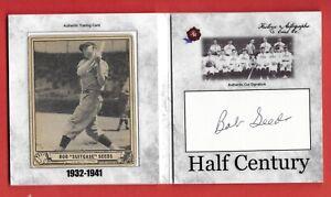 "2020 Historic Autographs Half Century ""Suitcase"" Seeds Auto 1940 PlayBall #/10"