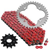 Red Drive Chain And Sprockets Kit for Honda TRX450ER Electric Start 2006-2014