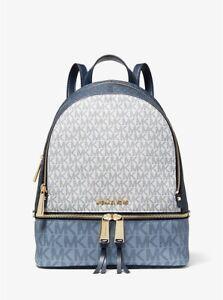 MICHAEL MICHAEL KORS Rhea Medium Color-Block Logo Backpack FAST SHIPPING
