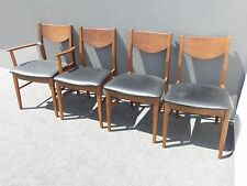 Vintage Mid Century Modern Black Vinyl Dining Room CHAIRS by STANLEY & Danish Modern Antique Chairs 1950-Now for sale | eBay