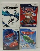 Nintendo Wii Wii U Games Disney Cars 2, Epic Mickey, Planes, Cars Mater's Tales
