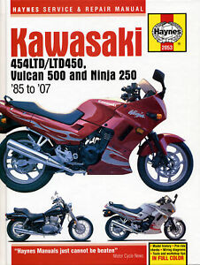 Kawasaki EN450/454/450/EN500/EX250/Ninja 1986-2007 Repair Manual