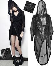 Veste longue cape voilage capuche gothique punk lolita fashion laçages Punkrave