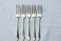 5 Quality solid silver dinner forks, Sheffield 1927/28, 1961 not scrap, 252gms