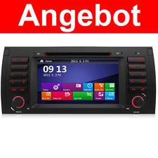 DVD GPS Navigation Autoradio 2-Zone Bluetooth SWC RDS Für BMW E39 E53 X5 E38 5er