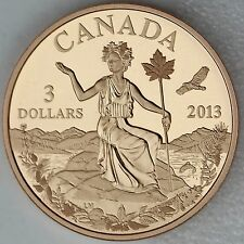 "2013 $3 Canada: An Allegory, Pure Bronze Coin – Iconic ""Miss Canada"" Figure"
