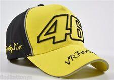 NEW YELLOW Valentino Rossi VR46 Moto GP Baseball Cap Hat Yamaha 3D Embroidered