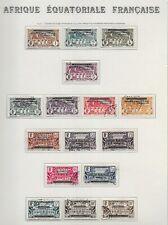 Lot timbres oblitérés Afrique Equatoriale Française Du N°1 au N°16