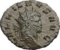 Gallienus Valerian I son 265AD Authentic Rare Ancient  Roman Coin  Mars i57411