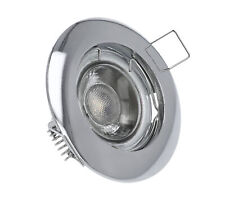 LED Einbaustrahler Chrom 230V GU10 MR16 Rahmen Einbaurahmen Einbauleuchte 2847