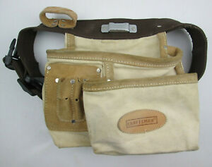 Craftsman Belt with 2 Tool Pouches, Tapeholder and 2 Leather Loops - MODIFIED