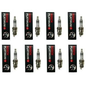6 BOSCH SPARK PLUG 4004 PLATINUM PLUS SET FOR GMC CHEVROLET CADILLAC VEHICLES