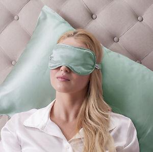 Jasmine Silk Reine Seide Gefüllt Schlaf Augenmaske Ösen Augenbinde Entenei