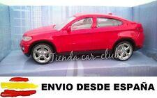 BMW X6 ROJO COCHE DE COLECCIÓN A ESCALA 1:43 ENVIO CERTIFICADO
