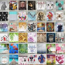 Divers Tissu Imperméable Salle de Bain Douche Panneau de Rideau+12 Crochets