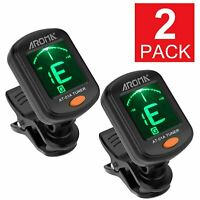 2x Digital Chromatic LCD Clip-On Electric Tuner for Bass Guitar Ukulele Violin