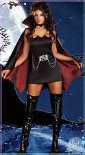 Black Vampire Queen Ghost Zombie Halloween Fancy Dress Women Lady Party Costume
