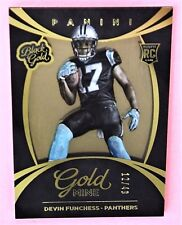 Devin Funchess Panthers 2015 Black Gold RC Goldmine Gold Foil Rookie 12/49