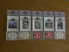 Vtg 1993 Topps Stadium Club Master Photos First Edition Complete Set -All 5 of 5
