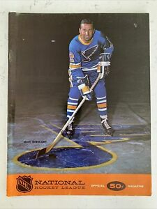 1967-68 NHL Hockey North Stars Vs St. Louis Blues Official Program! (B120)