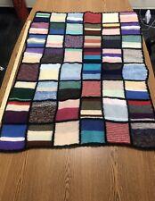 Knitted Block Afgan Lap Bkanket