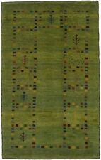 Stunning Hand Knotted Tribal Modern Gabbeh  Area Rug Oriental Carpet 3X4