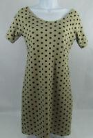 Wet Seal Women's Dress Short Sleeves Brown Polka Dot Cross Low Back Size Large