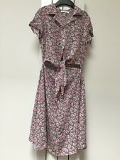 Glamorous Tall Tie Front Skater Dress In Ditsy Floral Print Size 8