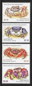 AUSTRALIA CHRISTMAS ISLAND 2020 CRABS 4v MNH