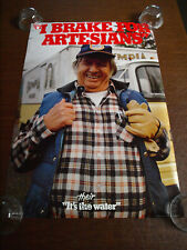 "Brand New vintage Olympia Brewing poster ""I Brake for Artesians"" 1980's Oly"