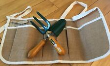 Gardening Apron With Hand Hand Trowel And Fork