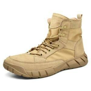 Mens Army Tactical Comfy Combat Military Ankle Boots Work Desert Shoes hot 0718