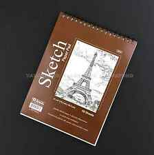 """6"""" X 8"""" Premium SKETCH BOOK Paper Pad 50 Sheets Quality Top Spiral Bound (F02)"""