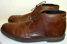GBX MENS BROWN LEATHER ANKLE BOOTS Size 13M  D133
