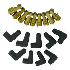 8-8.5mm Universal Silicone Spark Plug Wire Set For Male/HEI 90 Degree Boots