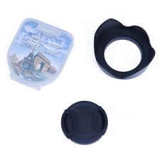 H3 Objektiv Deckel + Haube + UV-Filter Kompatibel mit 52mm Nikon D3100 18-55mm