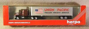 Herpa 1:87 Union Pacific Trailer Service Tractor & Trailer *Vintage* In Box*