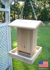 """16"""" Tall Cedar Wood Bird Feeder / Silo Feeder / Bird Feeder"""
