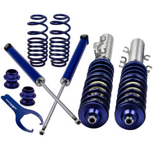 COILOVER for VW GOLF MK4 1.8T TURBO ADJUSTABLE SUSPENSION COILOVERS Sale