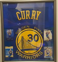 Steph Curry autographed framed jersey w/coa